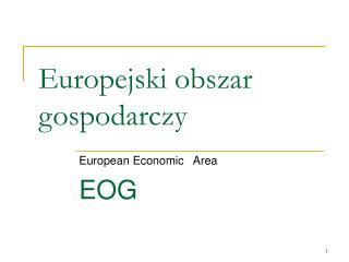 Europejski obszar gospodarczy