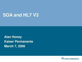 SOA and HL7 V3