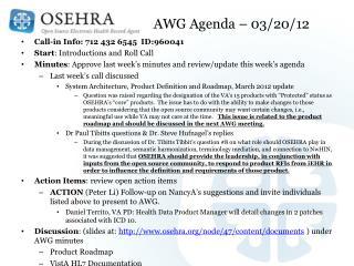 AWG Agenda – 03/20/12