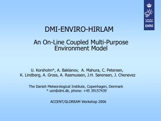 DMI-ENVIRO-HIRLAM