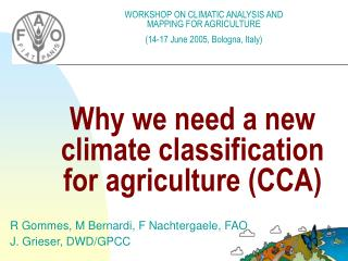 Why we need a new climate classification for agriculture CCA