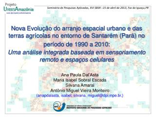 Ana Paula Dal'Asta Maria Isabel Sobral Escada Silvana Amaral Antônio Miguel Vieira Monteiro