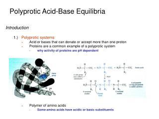 Polyprotic Acid-Base Equilibria