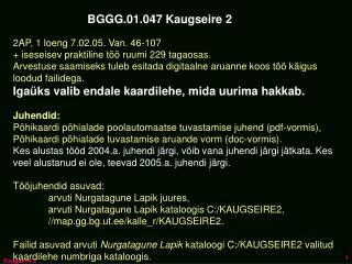 BGGG.01.047 Kaugseire 2
