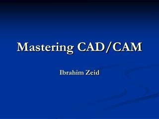 Mastering CAD