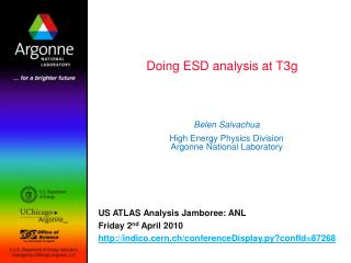 Doing ESD analysis at T3g