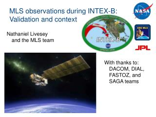 MLS observations during INTEX-B: Validation and context