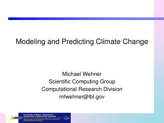 Modeling and Predicting Climate Change