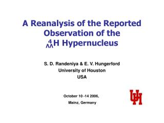 A Reanalysis of the Reported Observation of the  ΛΛ H Hypernucleus
