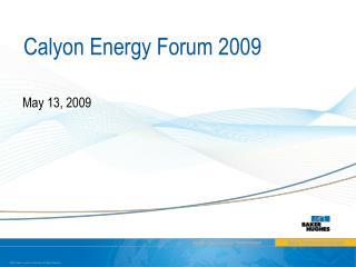 Calyon Energy Forum 2009