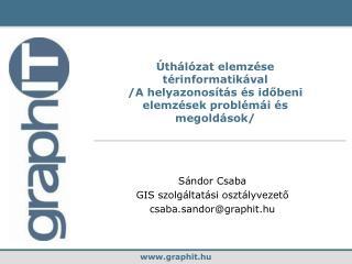 Sándor Csaba GIS szolgáltatási osztályvezető csaba.sandor @graph it .hu