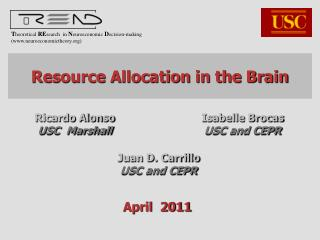 Resource Allocation in the Brain