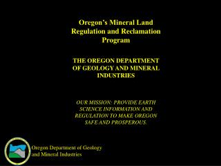 Oregon Department of Geology and Mineral Industries