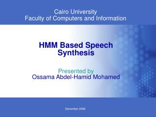 Cairo University Faculty of Computers and Information