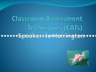 Classroom Assessment Techniques (CATs)
