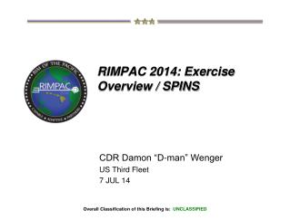 RIMPAC 2014: Exercise Overview / SPINS