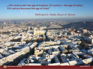 VILNIUS : FACTS & FIGURES