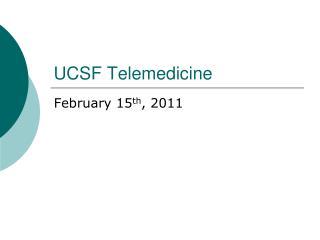 UCSF Telemedicine