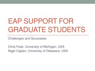 EAP Support for graduate students