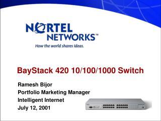 BayStack 420 10/100/1000 Switch