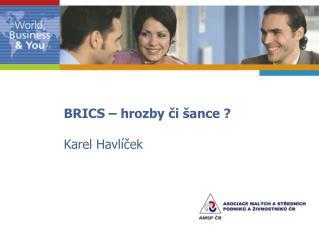 BRICS – hrozby či šance ? Karel Havlíček