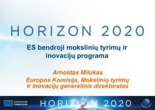 ES bendroji mokslinių tyrimų ir inovacijų programa