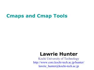 Cmaps and Cmap Tools