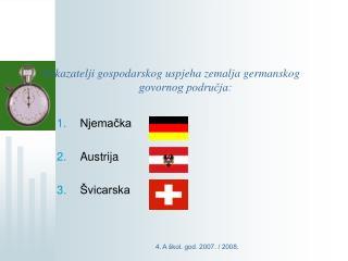 Pokazatelji gospodarskog uspjeha zemalja germanskog govornog područja:
