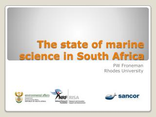 The state of marine science in South Africa