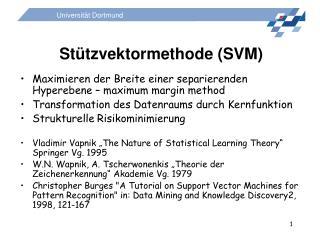 Stützvektormethode (SVM)