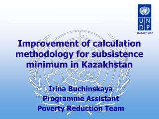 Improvement of calculation methodology for subsistence minimum in Kazakhstan