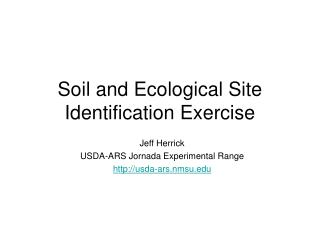 Soil and Ecological Site Identification Exercise