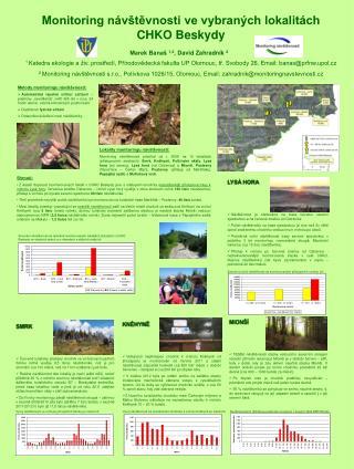 Monitoring návštěvnosti ve vybraných lokalitách CHKO Beskydy