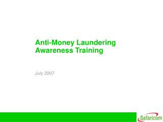 Anti-Money Laundering Awareness Training