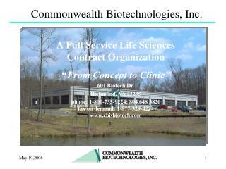 Commonwealth Biotechnologies, Inc.