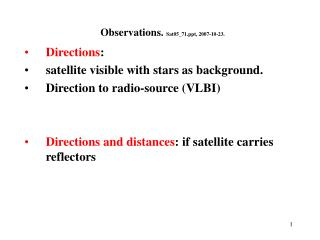 Observations.  Sat05_71, 2007-10-23.