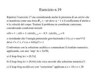 Esercizio n.19