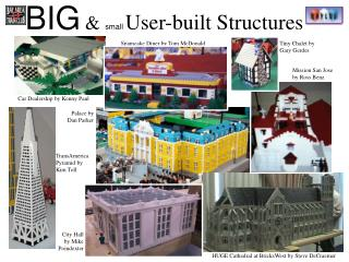 BIG  &  small  User-built Structures