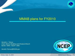 MMAB plans for FY2010
