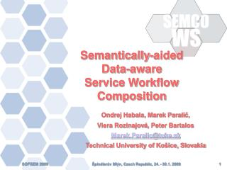 Semantically-aided  Data-aware  Service Workflow Composition