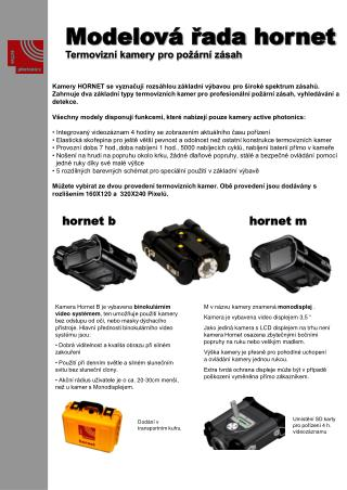 Modelová řada  hornet  Termovizní kamery pro požární zásah