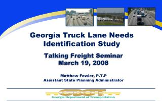 Georgia Truck Lane Needs Identification Study