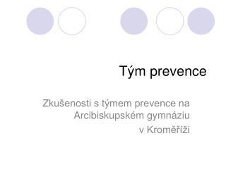 Tým prevence