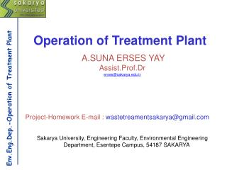 Env.Eng.Dep.-Operation of Treatment Plant