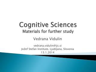 Cognitive Sciences Materials for further study