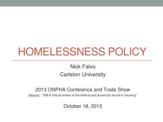 Homelessness policy