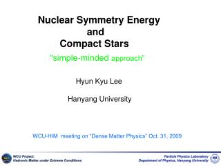 Nuclear Symmetry Energy                   and          Compact Stars