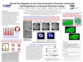 Recent Developments in the Characterization of Extreme-Anisotropic