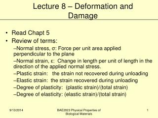 Read Chapt 5 Review of terms: