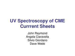UV Spectroscopy of CME Currrent Sheets